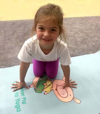 Parker Pig kids yoga mat