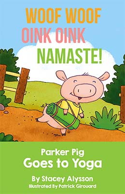 front page of brochure, showing cartoon pig walking on a path