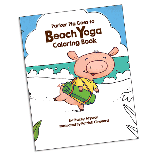 Parker Pig Goes to Beach Yoga Coloring Book
